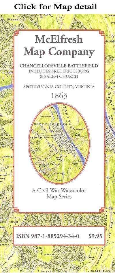 McElfresh Map Company - Battle of Chancellorsville Map - Civil War on
