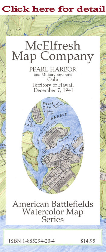 McElfresh Map Company Map Of Pearl Harbor And Environs Civil - Any us map in battlefield series