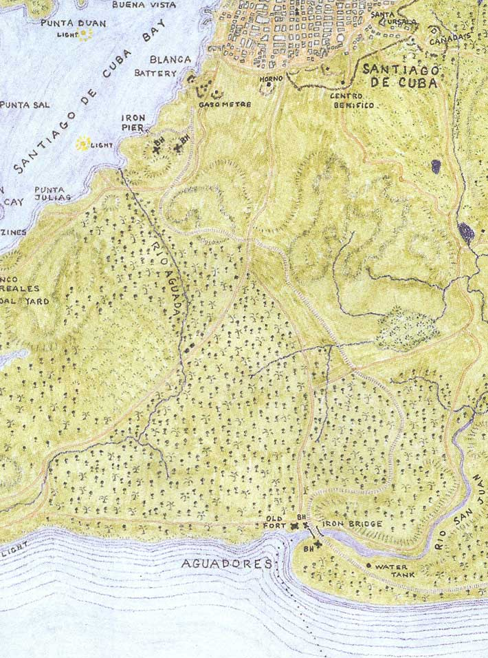 McElfresh Map Company Sanitago De Cuba Map Detail Civil War Maps - The old map company